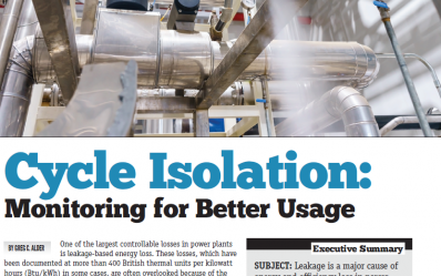 cycle isolation monitoring article in valve magazine